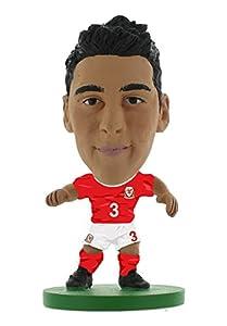 SoccerStarz SOC1044 - Figura del Equipo Nacional de Gales con Licencia Oficial de Neil Taylor en Kit de Inicio