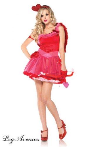 Leg Avenue 83793 - Kiss Me Cupid Kostüm, Größe: M/L, rot (Rot Cupid Kostüm)