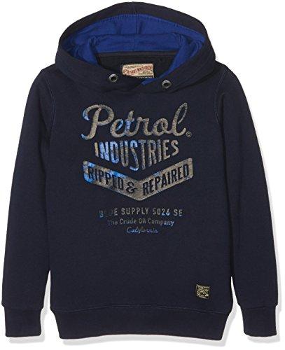 Petrol Industries SWH351 - Felpa Con Cappuccio Per Bambini, colore bleu (deep capri), taglia 6 ans (Taglia produttore: 116)