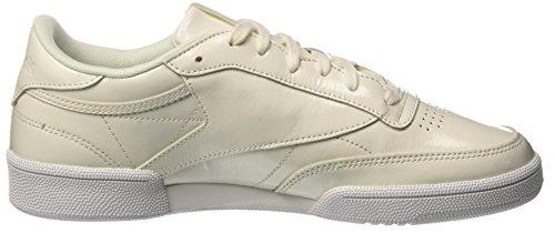 Reebok Damen Club C 85 Patent Tennisschuhe, Schwarz Weiß (White 000)