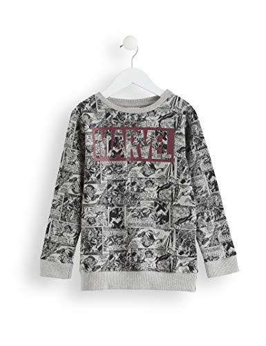 RED WAGON Jungen Marvel Avengers Comic AOP Sweater Sweatshirt, Grau (Grey, 122 (Herstellergröße: 7)