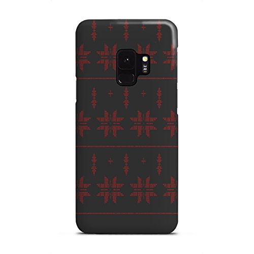 artboxONE Samsung Galaxy S9 Premium-Case Handyhülle Binary Xmas Stars Red von AB1 Edition (Red Holiday Sweater)