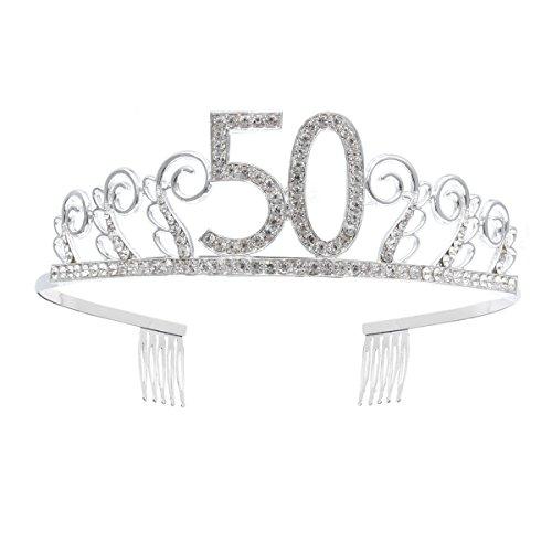 Frcolor Corona Cumpleaños 50 Años Diadema Cumpleaños Mujer...
