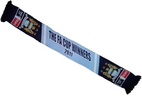 Manchester City vincitori FA Cup 2011Calcio Sciarpa