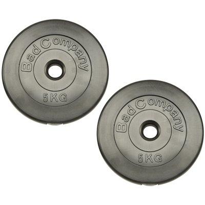 Hantelscheiben Kunststoff ummantelt 30/31mm - Frei wählbare Gewichtsabstufungen, 2 x 5 Kg Hantelscheiben