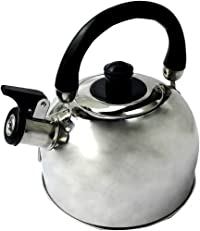 Benecasa Stainless Steel Tea Kettle with Whistling and Removable Lid, 2.5-Quart