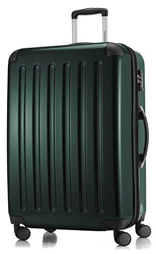 HAUPTSTADTKOFFER - Valigia Rigida Alex, 4 Doppie ruote, TSA, Taglia 75 cm, 119 Litri, Colore  Verde foresta