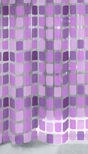 Kleine Wolke 4956808305 Duschvorhang Sonny, 180 x 200 cm, violett