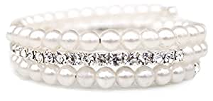 Unbekannt - Bracelet strass ,bracelet perle strass bijoux de mariée mariage noce