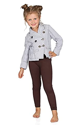 Futuro Fashion Chaud Épais Enfants Leggings Coton Filles Pantalon Uni Longue Enfants Pantalon Âge 2 3 4 5 6 7 8 9 10 11 12 13 - Marron, 12