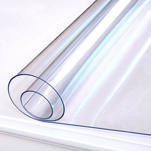 DGF Toile de table imperméable à l'eau anti-ébarbure Table de salle à manger en verre mous Table basse Panneaux transparents Plaque de cristal (2.0mm, multi-taille optionnelle) ( Couleur : 2.0mm , taille : 90*180cm )
