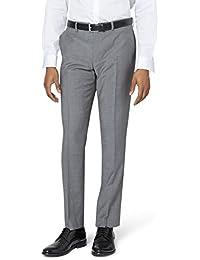 DKNY Men`s Slim Fit Light Grey Suit Trousers