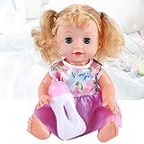 Soft Touch-Girl Funzione Interattiva Doll Kids Best Friend con Bellissimi Occhi Azzurri I Capelli Biondi Possono Parlare E Bere, per I Bambini Regalo di Educazione Precoce 31cm
