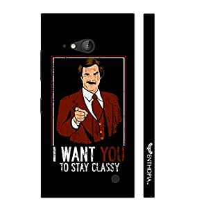 Nokia Lumia 730 Stay Classy designer mobile hard shell case by Enthopia