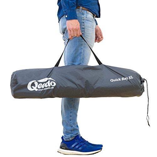 Qeedo Quick Bay Xl Strand-Zelt mit UV-Schutz (UV80 nach UV-Standard 801) Pop-UP-Strandmuschel - blau -