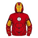 Memoryee Cool Super héros 3D Numérique Imprimé Fermeture à glissière Masqué Sweat à Capuche Garçons Filles Plus La Taille Cosplay Costume Cavaliers Sweat-Shirts avec des Poches Style4 (M)