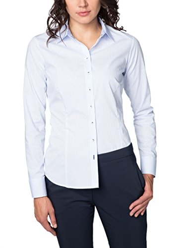 ETERNA Blouse for tall women SLIM FIT striped azzurro chiaro