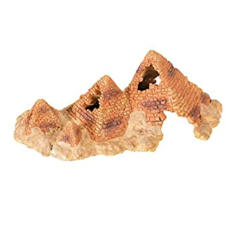 aquapet Reptile Pyramid Hide Cave L 7
