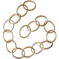 Cadena pluviale de cobre–2m–Made in Italy–Cadena ovalada pequeña