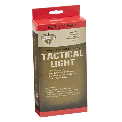 TAC SHIELD TACTICAL LUZ VARILLAS X 10-ROJO