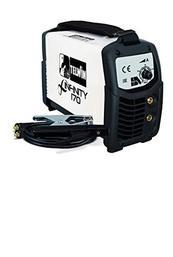 Telwin INFINITY 170 ACX Saldatrice Inverter ad Elettrodo Force 168 MPGE 230V con Accessori e Valigetta in Plastica