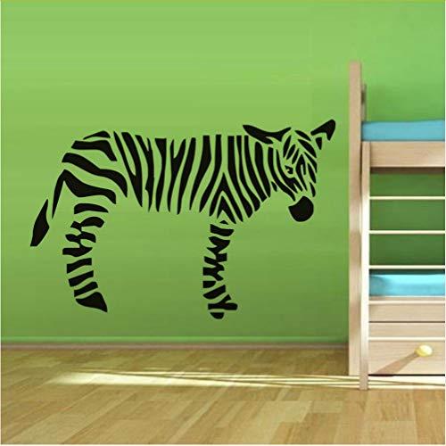 Zlxzlx Kostenlose Kinderzimmer Möbel Aufkleber Eine Niedliche Zebra Wandtattoos Für Kinderzimmer Kinderzimmer Dekor Vinyl AbnehmbareMaßgeschneiderte Wandkunst 89 * 56Cm - Horror Kostenlose Wallpaper