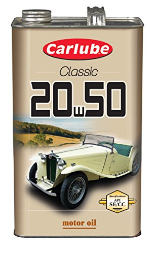 Carlube - Olio motore multitensione per auto d'epoca 20W50, 4,55 lit