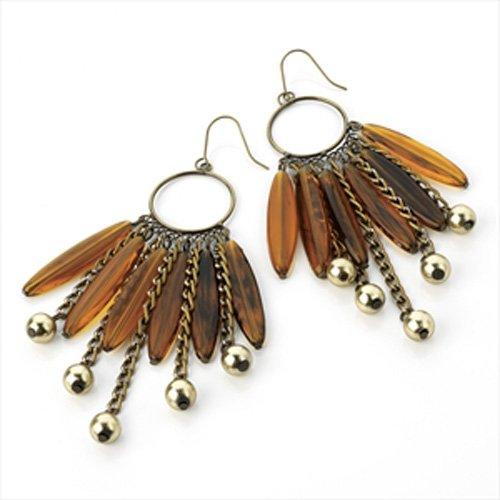 Bronze Perlen Drop Ohrringe deliktrechts aj24017