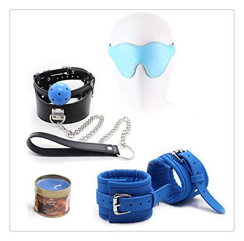 Z-one 1 Special Fashion 4-teiliges Leder-Kit, für Spiele, Kleid, Cosplay (blau) 4-zonen-kit