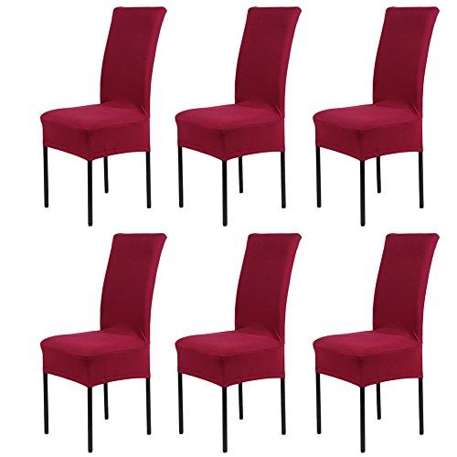 6 pezzi coprisedie con schienale banchetto sedia sedile slipcover per hone party hotel cerimonia di nozze posate da pasto