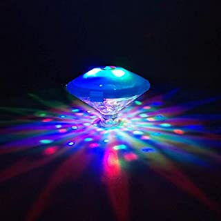 Ailiebhaus Diamond Colorful Pool Light, Floating Waterproof RGB Pond LED Light 5 Color Modes Decorative for Bath Tub Disco Party Swimming Pool