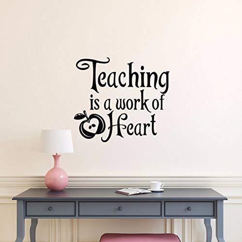 Dalxsh Lehre ist eine Arbeit des Herzens Vinyl Wall Decal zitieren Schule Lehrer Wertschätzung Geschenk, Lehrer Geschenke, Lehrer Klassenzimmer Dekor 47x42cm (Süße Halloween Geschenke Für Lehrer)