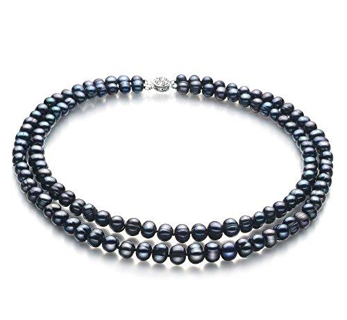 noir-6-7mm-a-qualit-perles-deau-douce-collier-de-perles-41-cm