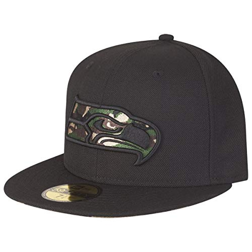 New Era 59Fifty Fitted Cap - CAMO Logo Seattle Seahawks Camo 59fifty Fitted Cap