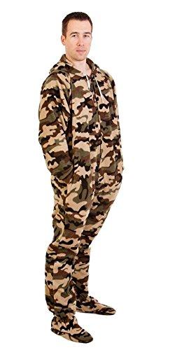 Forever Lazy Herren Strampelanzug Gr. XL, grün/camouflage (Camouflage Kostüm)