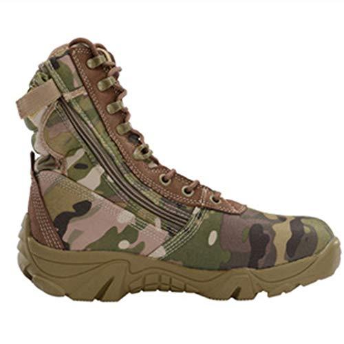 High-top Combat Boots per gli uomini, antiscivolo scarpe da arrampicata traspiranti, Desert boots militari, sport esterni Biker Stivaletti, Lace Up lavoro Utility calzature per uomo,Camouflage-40