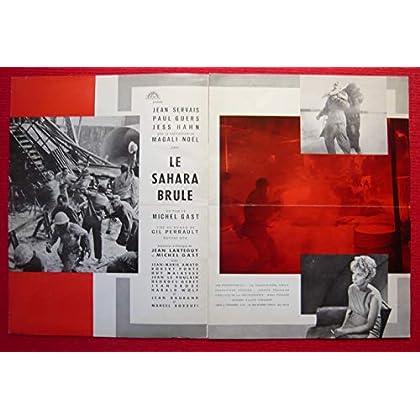 Dossier de presse de Le Sahara brûle (1960) – Film de Michel Gast avec J Servais, P Guers, J Hahn, Magali Noël – 8 pages – Photos N&B + résumé du scénario - Bon état.