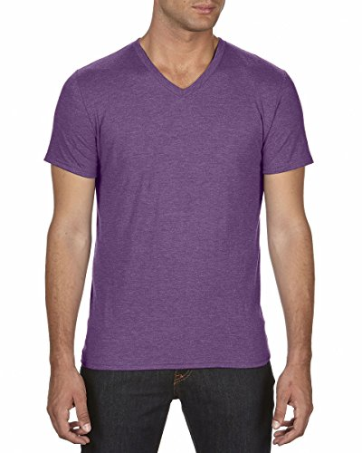 Anvil Herren T-Shirt Heather Aubergine