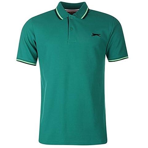 Polo Slazenger - SLAZENGER Polo T-shirt vert foncé dessus T-shirt