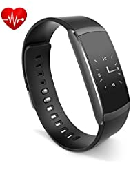 Fitness Armband,Rixow Fitness tracker Fitnessarmband Aktivitätstracker Bluetooth 4.0,Wasserdicht IP67 Activity Tracker mit Herzfrequenz / Schrittzähler / SMS Anrufe / Sport-Modus für Smartphone,iWOWNfit i6 Pro