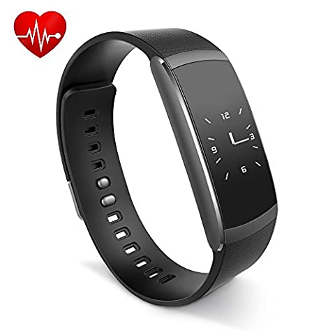 Fitness Armband,Rixow Fitness tracker Fitnessarmband Aktivitätstracker Bluetooth 4.0,Wasserdicht IP67 Activity Tracker mit Herzfrequenz / Schrittzähler / SMS Anrufe / Sport-Modus für Smartphone,iWOWNfit i6