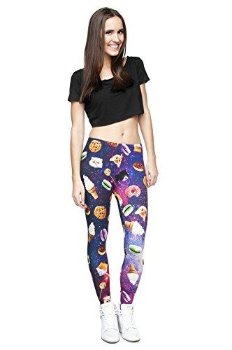 Long Femmes Filles Leggings Jegging imprimé Fitness Pantalon Skinny stretch Galaxy Pantalon de sport d'entraînement - Space Things