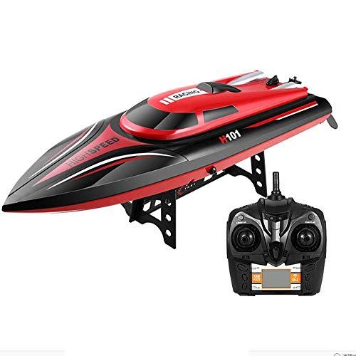 Ledu Fernbedienung Sportboot Yacht Wasserspielzeugboot selbstgerecht bürstenlose Fernbedienung Boot schnell geeignet für Schwimmbäder und Seen
