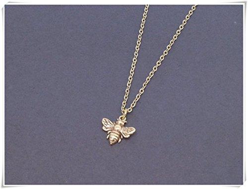 Honey Bee Necklace, Bumblebee Pendant, Insect Jewelry