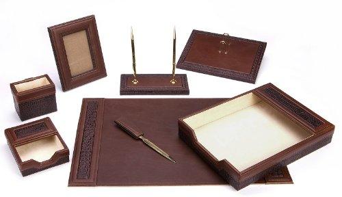 Majestic Goods Office Supply Schreibtisch-Set, Leder, Braun (W940) -