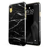 BURGA Coque pour iPhone XR, Noir Marbre, Noir Origin Black Marble Housse Étui...