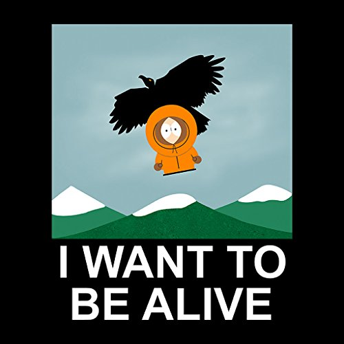 South Park X Files Mix I Want To Be Alive Womens Hooded Sweatshirt Black