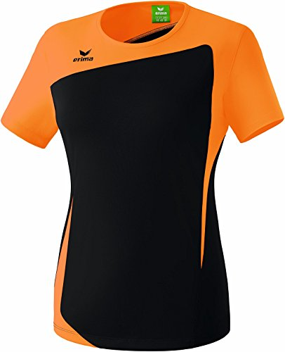 erima Damen Club 1900 T-Shirt Schwarz/Neon Orange