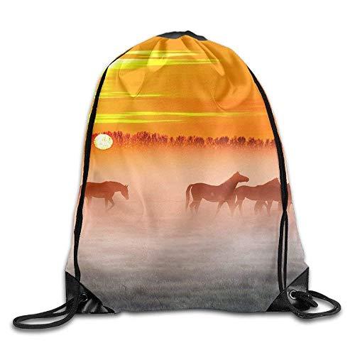 uykjuykj Tunnelzug Rucksäcke, Drawstring Backpack Gym Bag Travel Backpack, St Patricks Day Shamrock Green, Mens Bag for Boys Girls Black 8 Lightweight Unique 17x14 IN