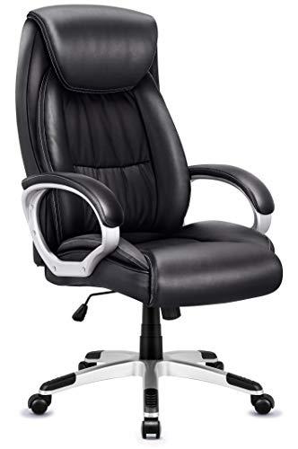 IntimaTe WM Heart Chefsessel, Bürostuhl mit Hoher Rückenlehne, Kunstleder Schreibtischstuhl high Back Drehstuhl mit Armlehnen, (schwarz2)